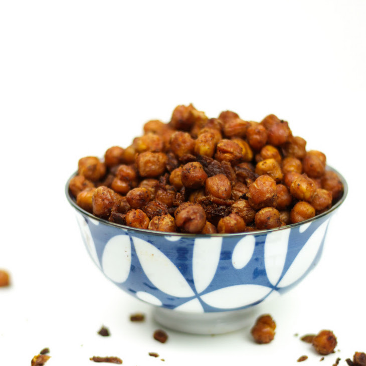 Spicy Bacon Roasted Chickpeas Recipe