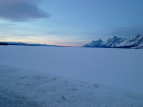 Photo: Sunrise view of Jackson Lake and the Tetons