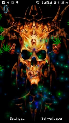 Skull Weed Live Wallpaper