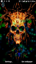 Weed Skull Smoke Live Wallpaper APK Download for Android