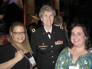 Photo: Kate and I with Col. Margarethe (Grethe) Cammermeyer, (Ret.),  Vietnam Veteran and Bronze Star recipient.