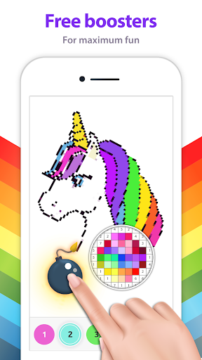 Unicorn Coloring Book - Color by Number - screenshot