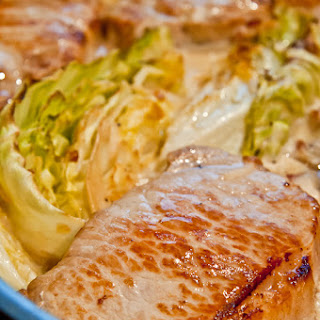 Pork Chops with Bacon and Cabbage.