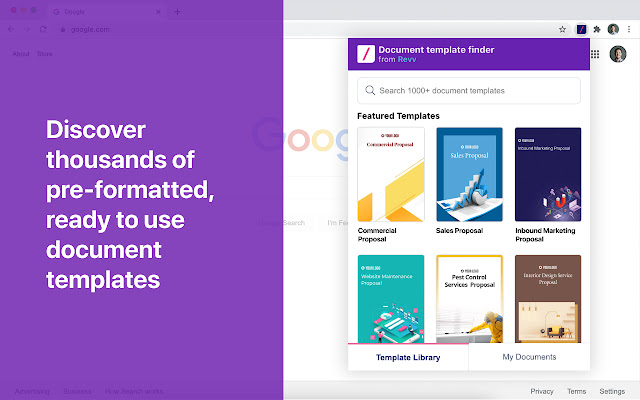 Document template finder
