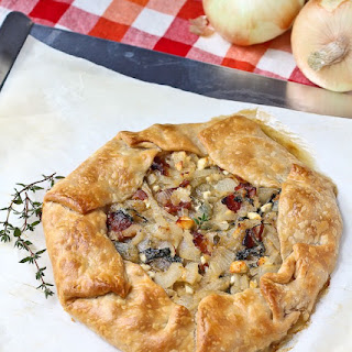 Vidalia Onion Tart with Bacon, Kale, and Feta