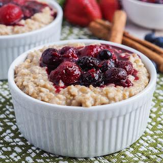 Irish Porridge with Berry Compote.