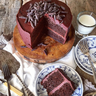 CLASSIC CHOCOLATE CAKE WITH CHILLI CHOCOLATE FROSTING.