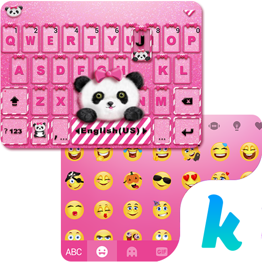Lovely Panda Kika Emoji Theme