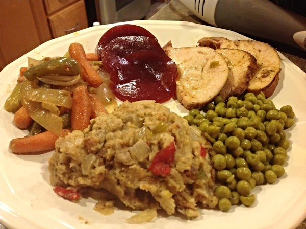 Serve with your favorite cranberry sauce and gravy if desired. Enjoy.