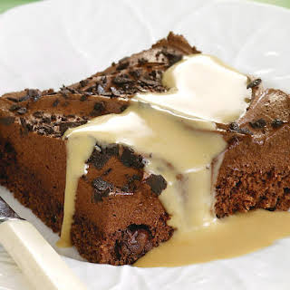 Chocolate Mousse Cake with Coffee Custard.