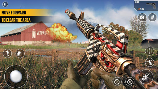 Anti-Terrorist FPS Shooting Mission:Gun Strike War android2mod screenshots 4