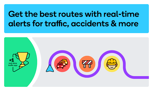 Waze - GPS, Maps, Traffic Alerts & Live Navigation 4.66.0.1 Screenshots 1
