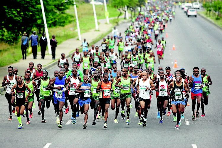 File photo of runners taking part in the Soweto Marathon.