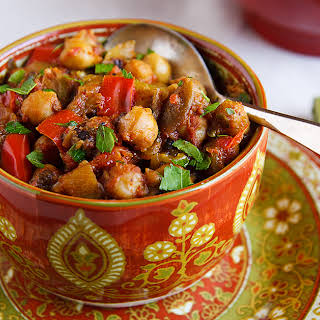 Eggplant and Chickpea Curry.