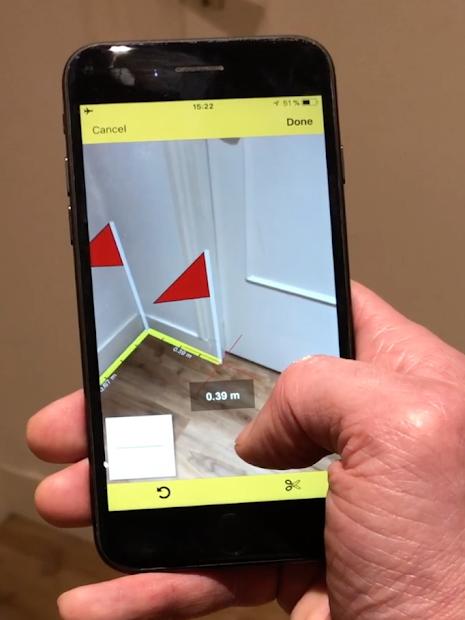 CamToPlan - AR measurement / tape measure Android App Screenshot