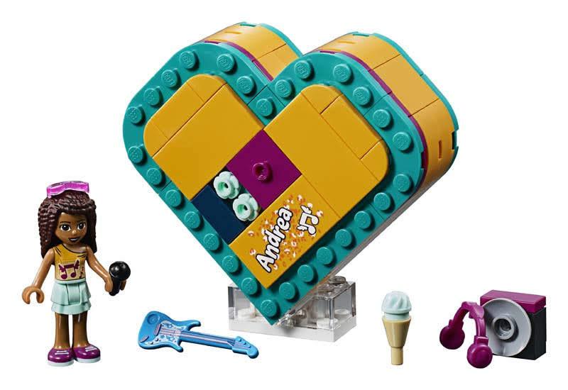 Contenido de Lego® 41354 Caja Corazón de Andrea