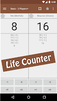 Screenshot of MTG Tracker & Life Counter