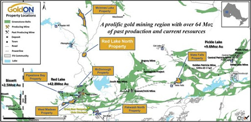 GoldON Provides Update on Red Lake North Gold Property