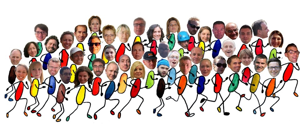 Photo de groupe des coureurs du Marathon Euro District 2015 au profit du Projet de L'Arche à Strasbourg