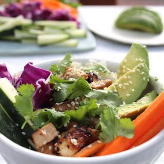 Crispy Tofu and Coconut Rice Sushi Bowl