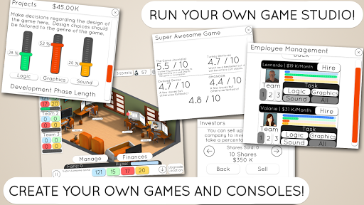 Game Studio Tycoon 2 скачать на планшет Андроид