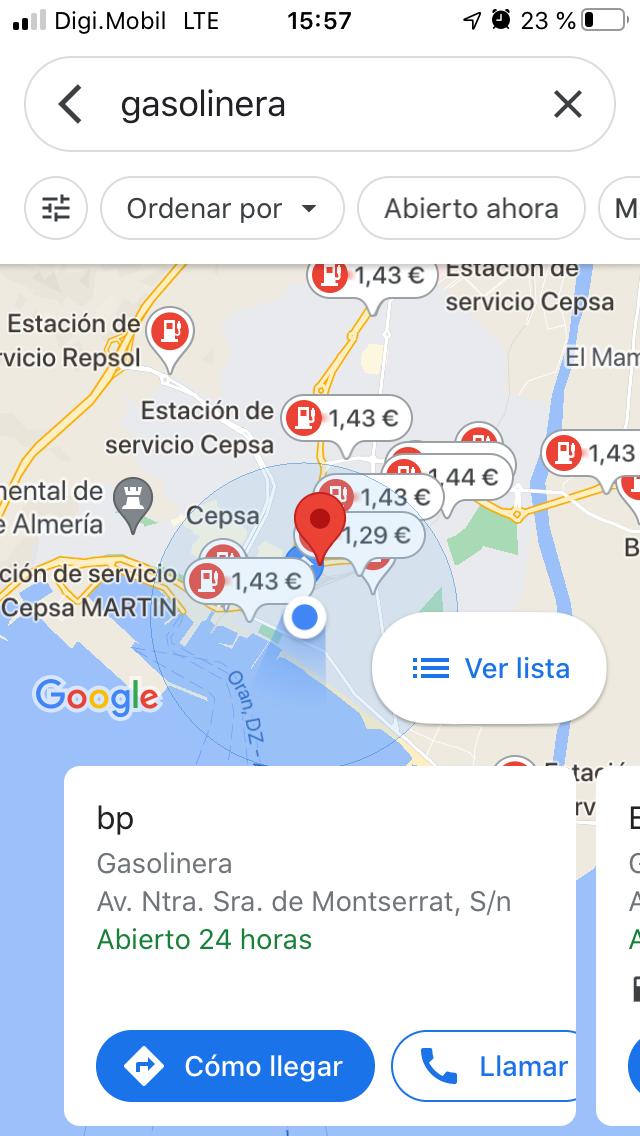 Comparación de precios en las gasolineras de Almería. Foto de Víctor N.