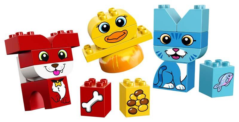 Contenido de Lego® 10858 Mi Primer Puzzle de Mascotas