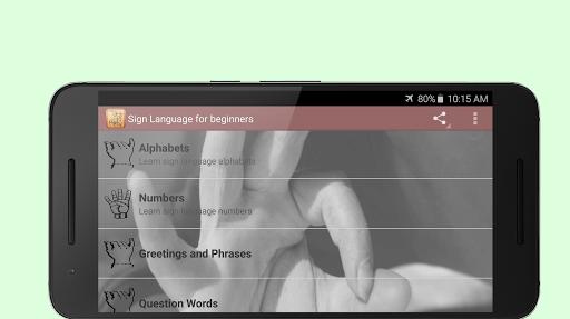 Sign Language for Beginners screenshot