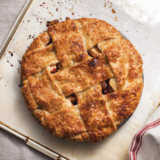 Apple Cranberry Walnut Lattice Pie