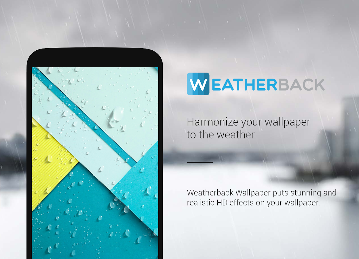 Live rain wallpaper- screenshot