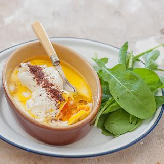 Turkish Poached Eggs with Yoghurt & Sumac.