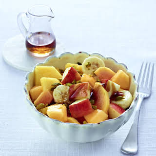 Breakfast Fruit Salad with Pistachios.