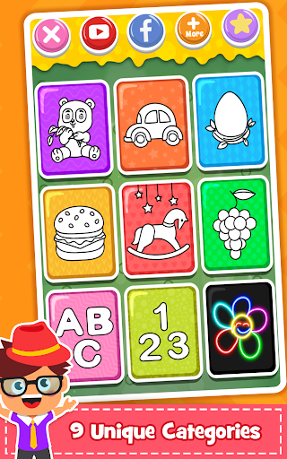 Coloring Games : PreSchool Coloring Book for kids 1.1 screenshots 8