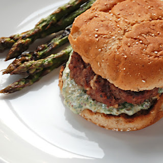 Grilled Lamb Feta Burgers with Light Rémoulade