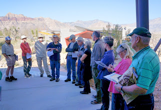 Photo: At the Red Rock Canyon Interpretive Center: Randy explaining what we'll do and see for the day.