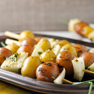 Lemon Garlic Potato Kabobs