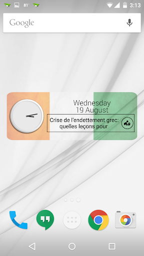 Ivory Coast Clock RSS Widget