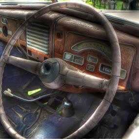 Ford Interior by Japie Scholtz - Transportation Automobiles ( car, floor, automobile, vehicle, sterring, shift )