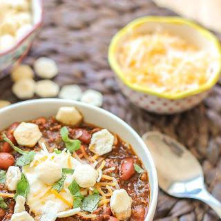Chorizo Chili with Jalapeño Cornbread Waffles