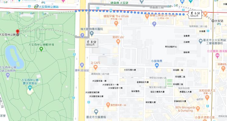 大安森林公園路線