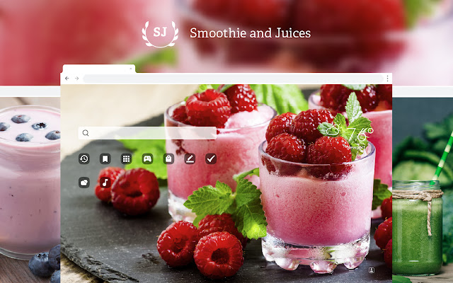 Smoothies & Juices HD Wallpaper New Tab Theme