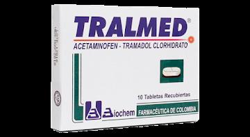 **Tralmed Tabletas   Caj.x10Tab. Biochem Acetaminofén Tramadol Clorhidrato