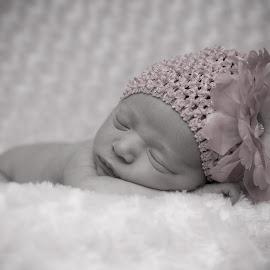 Sleeping Angel by Todd Wallarab - Babies & Children Babies ( sleep, baby, hat, girl, sweet, soft )