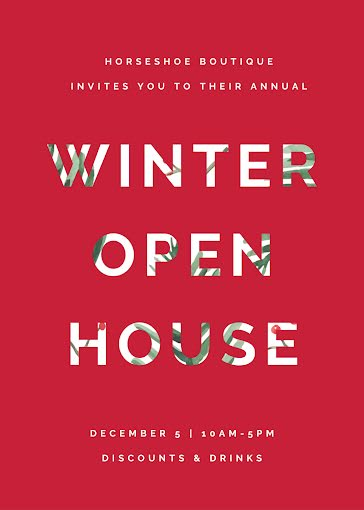 Winter Open House - Card Template