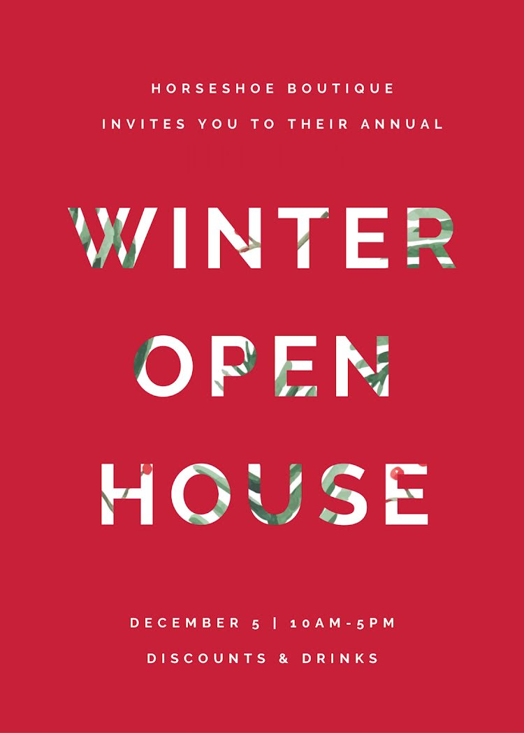 Winter Open House - Card Template