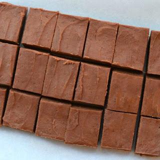 Healthy Peanut Butter Chocolate Fudge.