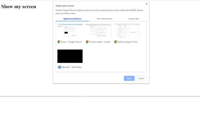 Support App-Screen Capture