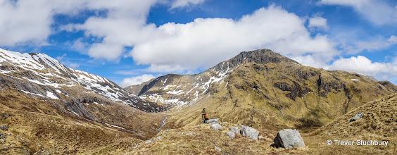 Photo: Carn Mor Daerg and Aonach Beag from Bealach Cumhann