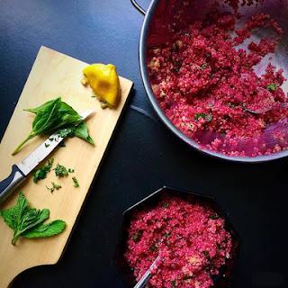 Herbed Beet Quinoa Tabbouleh Recipe