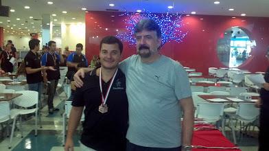 Photo: Daniel Murta (4.º no All Events 1.ª divisão masculina,média 214,95) com Décio Abreu